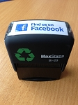 Find us on Facebook Stamp 46x16mm Maxum SI-20 Social Media