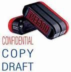 Trodat 3 in 1 Pre-Inked Stamp - Confidential / Copy / Draft