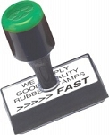 Personalised Garage Mechanics Stamp 50x25mm RS08 Traditional