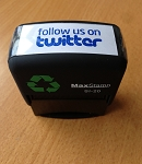 Follow us on Twitter Stamp Self Inking Stamp 46x16mm Max 2